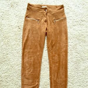 Suede type stretch pants